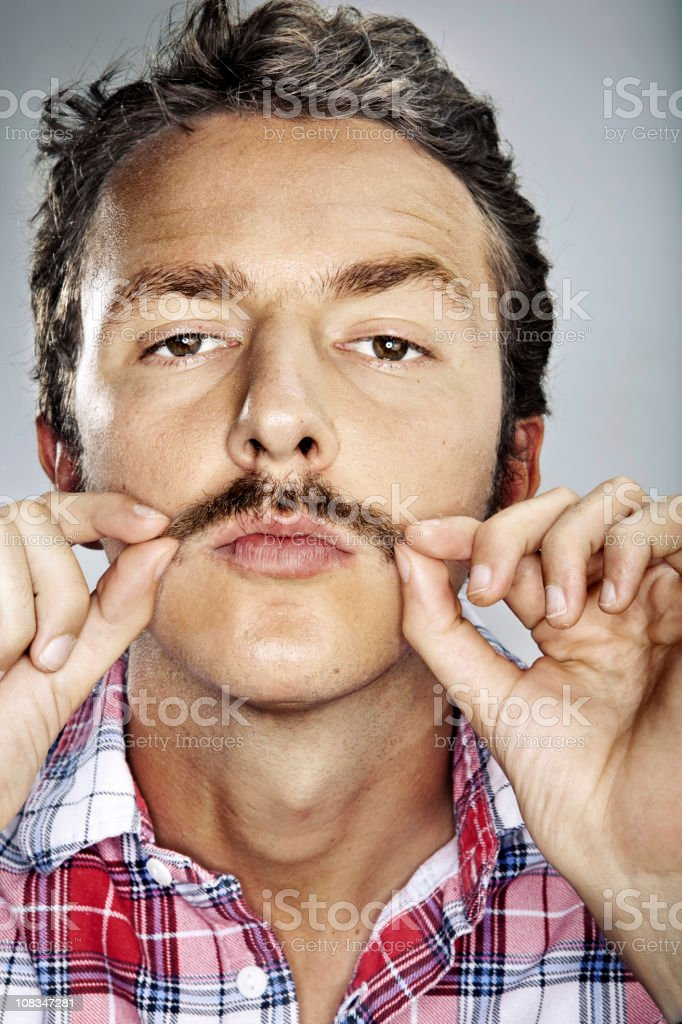 Silly man stock photo