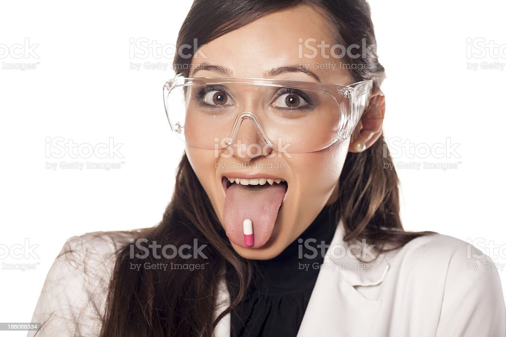 silly pharmacist royalty-free stock photo