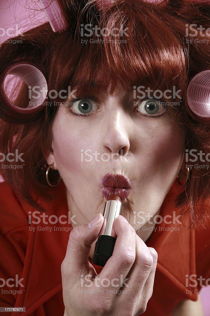 Silly Retro Woman royalty-free stock photo