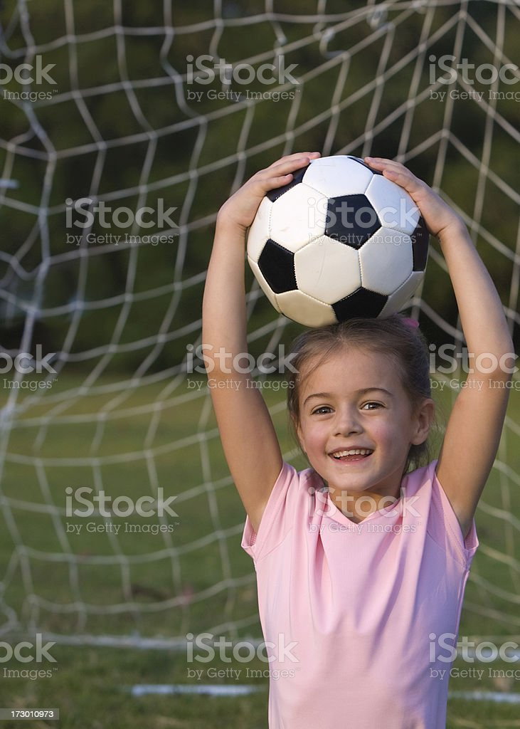 Silly Soccer Girl 2 stock photo