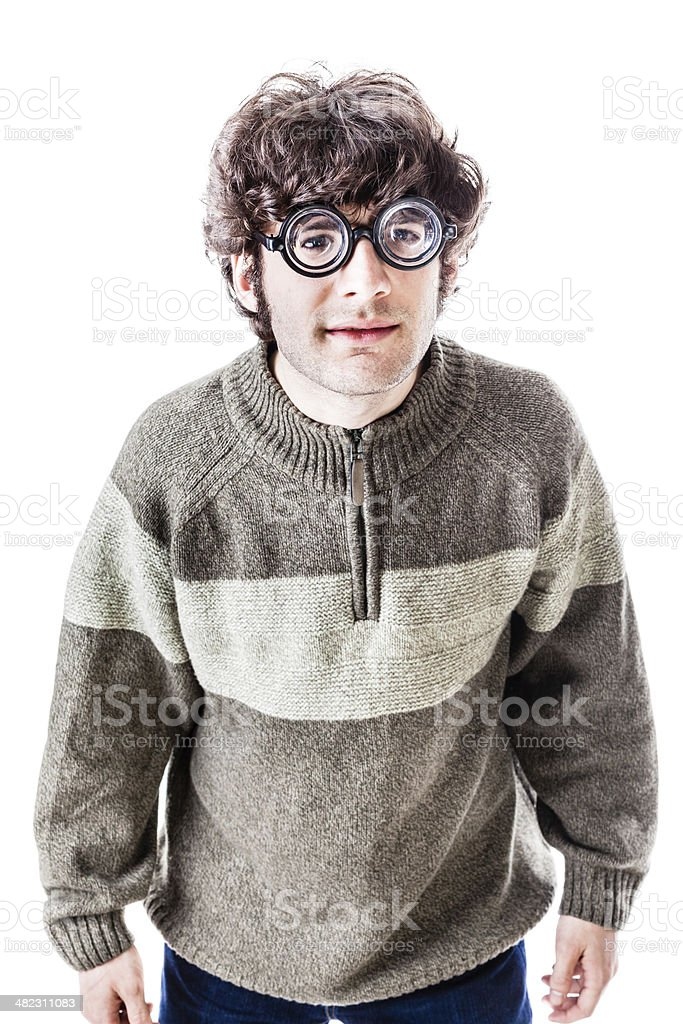 Silly student stock photo