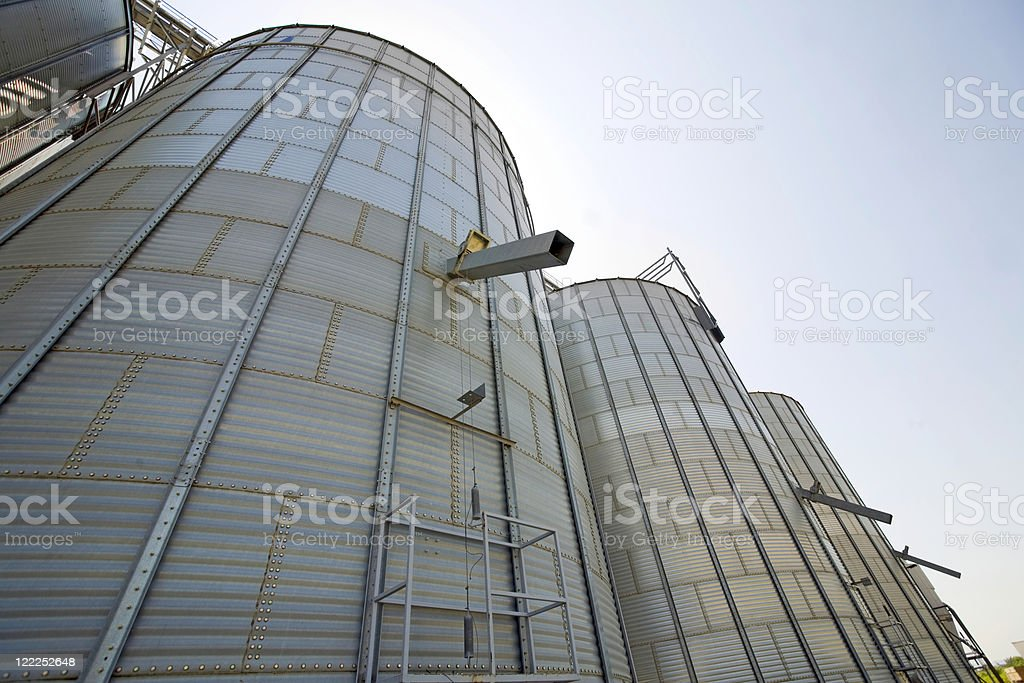 Silo for wheat, barley and rye royalty-free stock photo