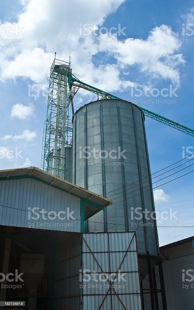 Silo in Thailand royalty-free stock photo