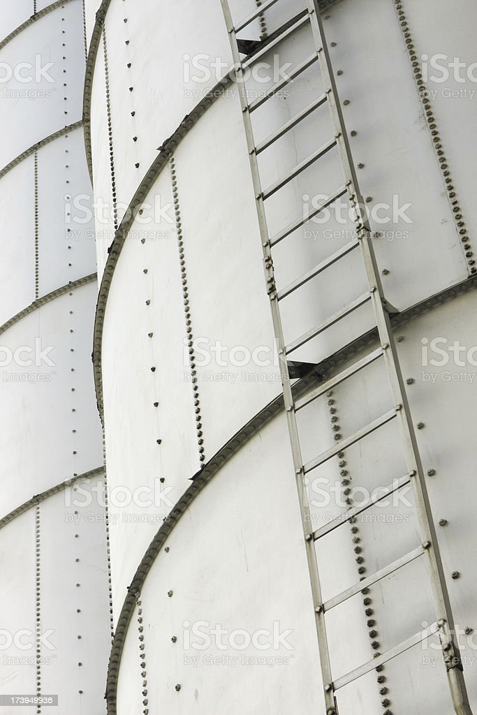 Silo Storage Ladder Agriculture Building royalty-free stock photo