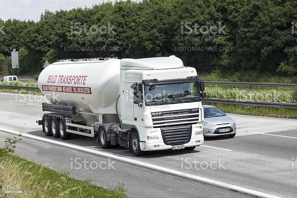 Silo truck on the highway royalty-free stock photo