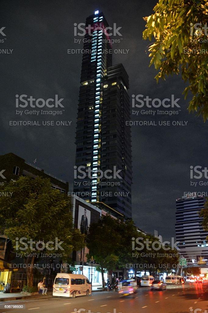 M Silom apartment building, Bangkok thailand stock photo