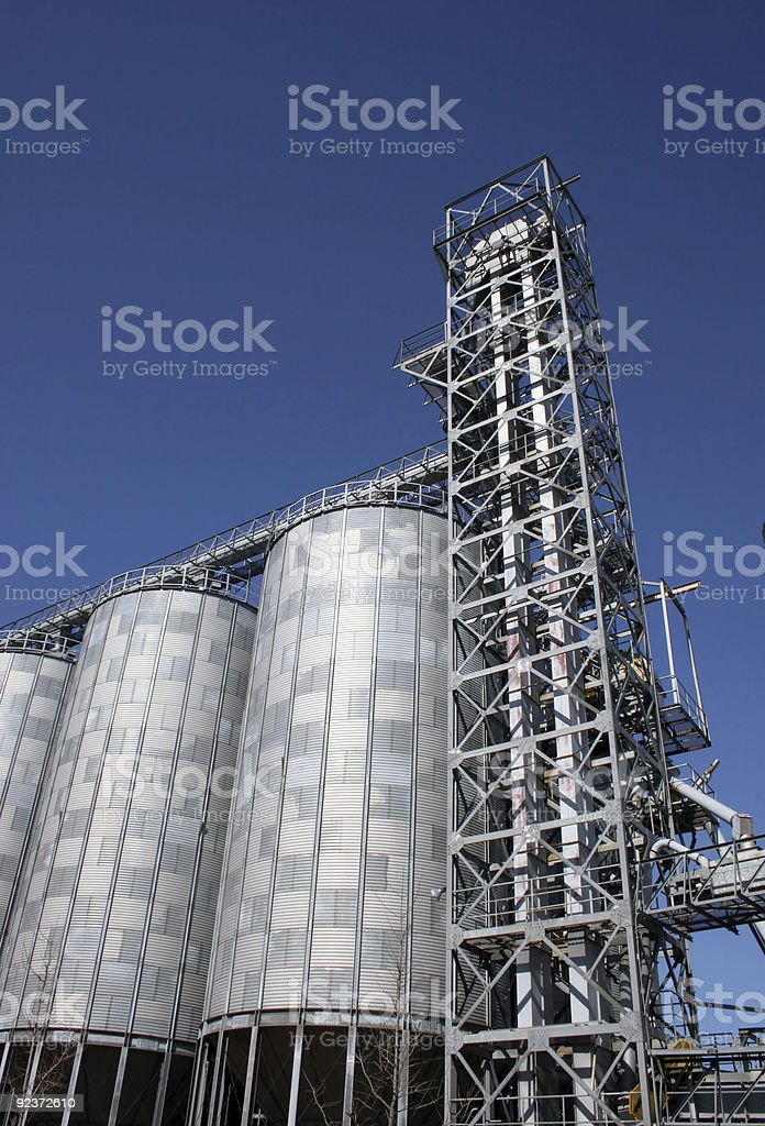 Silos at a flour mill royalty-free stock photo