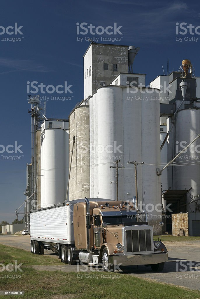 Silos at Harvest Time stock photo