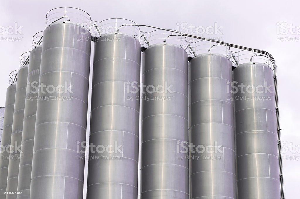 Silos di stoccaggio stock photo