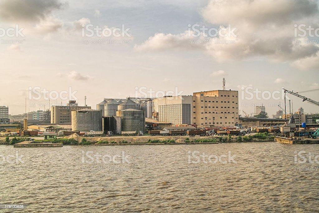 silos of fluor stock photo