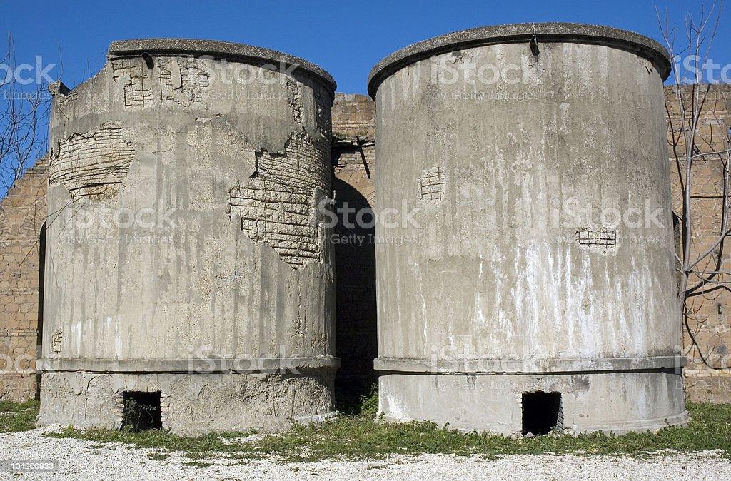 silos stock photo