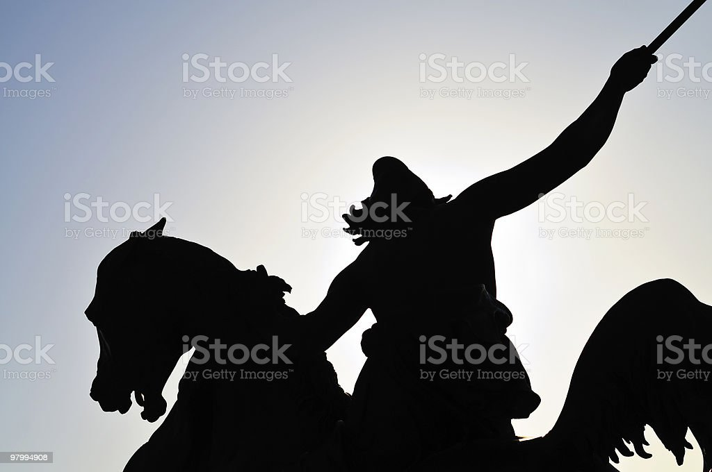 Silouhette of a statue royalty-free stock photo