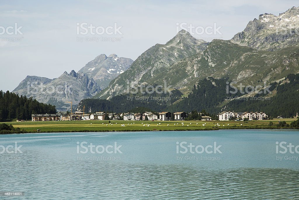 Sils Maria-Engadine-Switzerland royalty-free stock photo