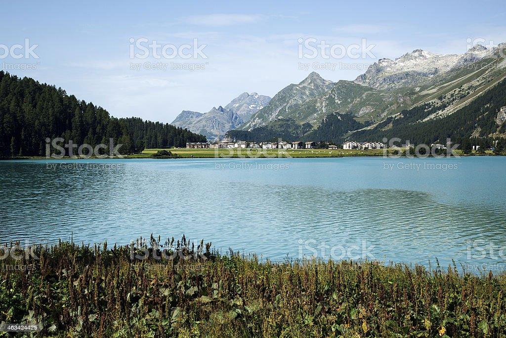 Sils Maria-Engadine-Switzerland stock photo
