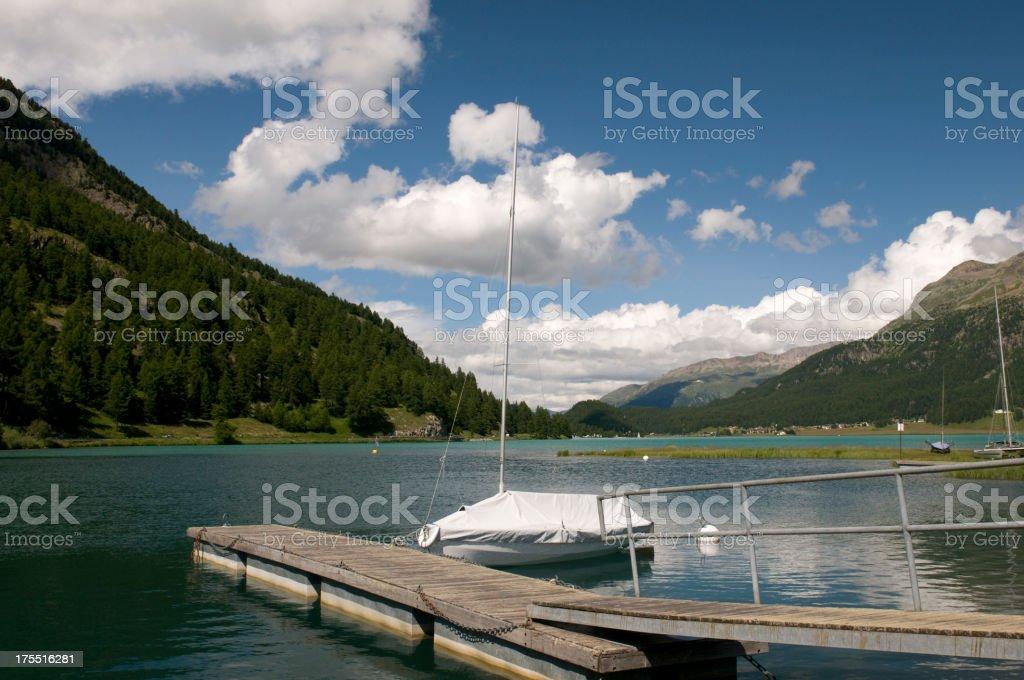 Silvaplana lake royalty-free stock photo