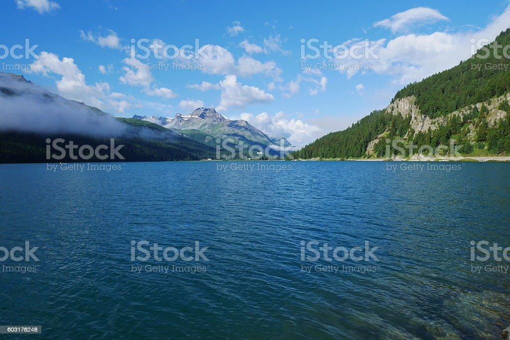 Silvaplana Lake stock photo