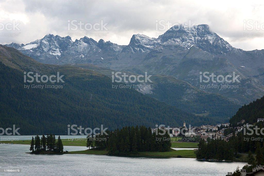 Silvaplana.Engadine-Switzerland royalty-free stock photo