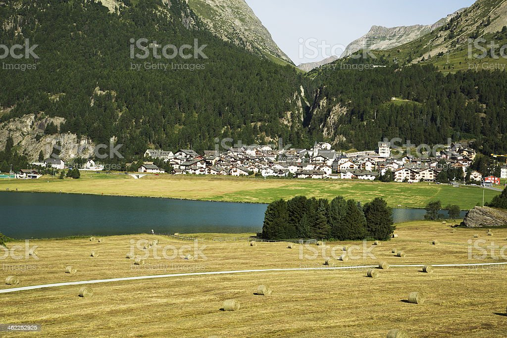 Silvaplana-Engadine-Switzerland royalty-free stock photo