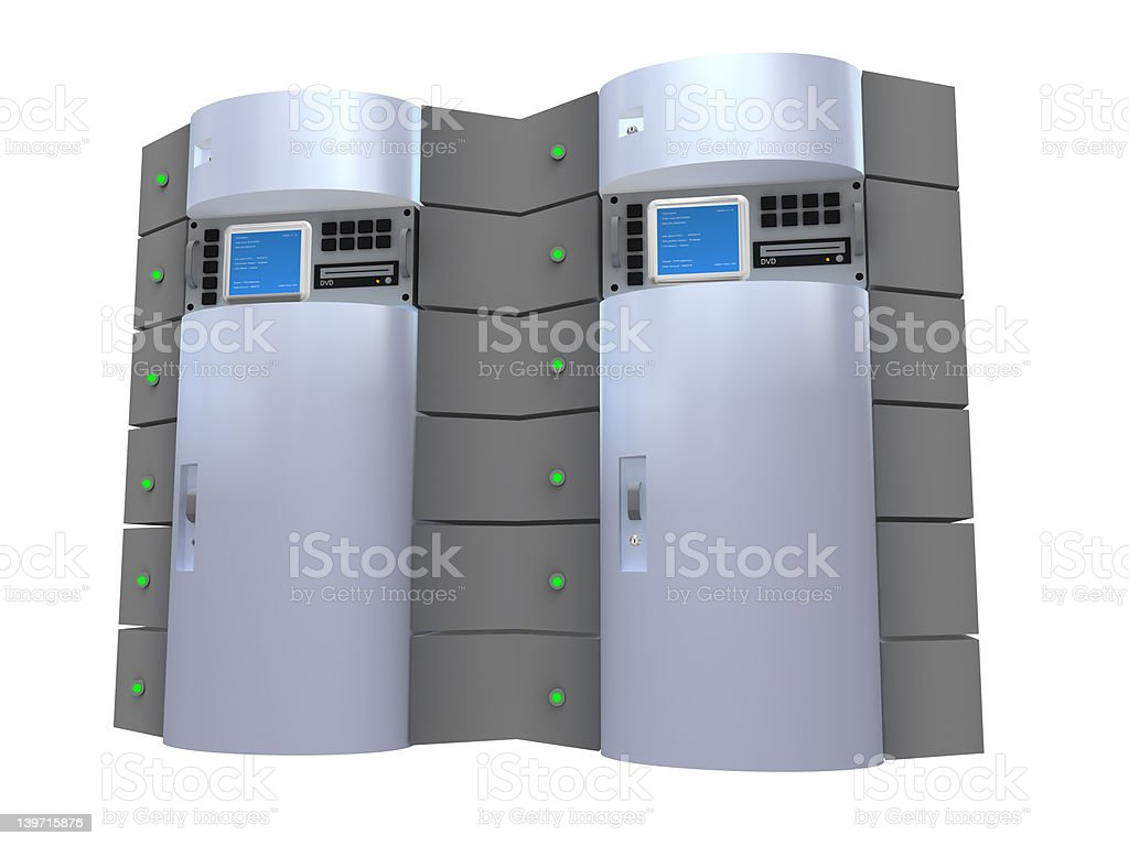 Silver 3d Server royalty-free stock photo