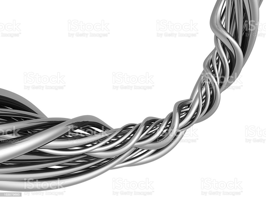 Silver abstract string wire artwork background royalty-free stock photo