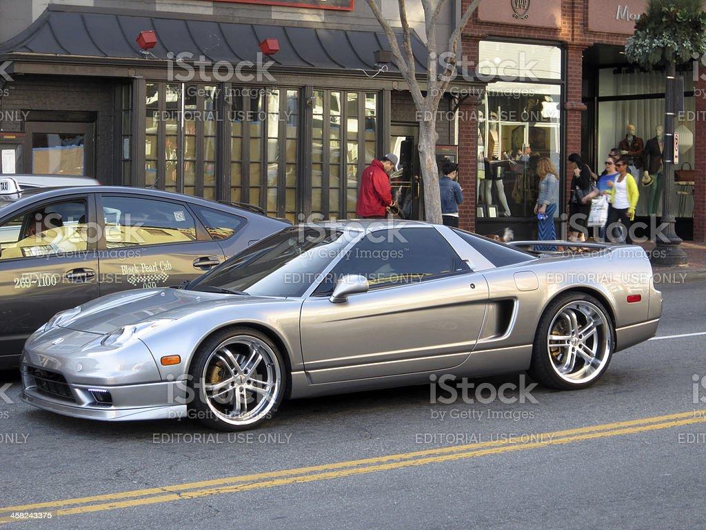 Silver Acura NSX stock photo