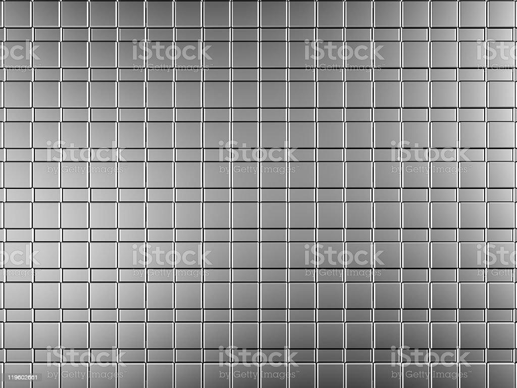 Silver aluminium tile background royalty-free stock photo