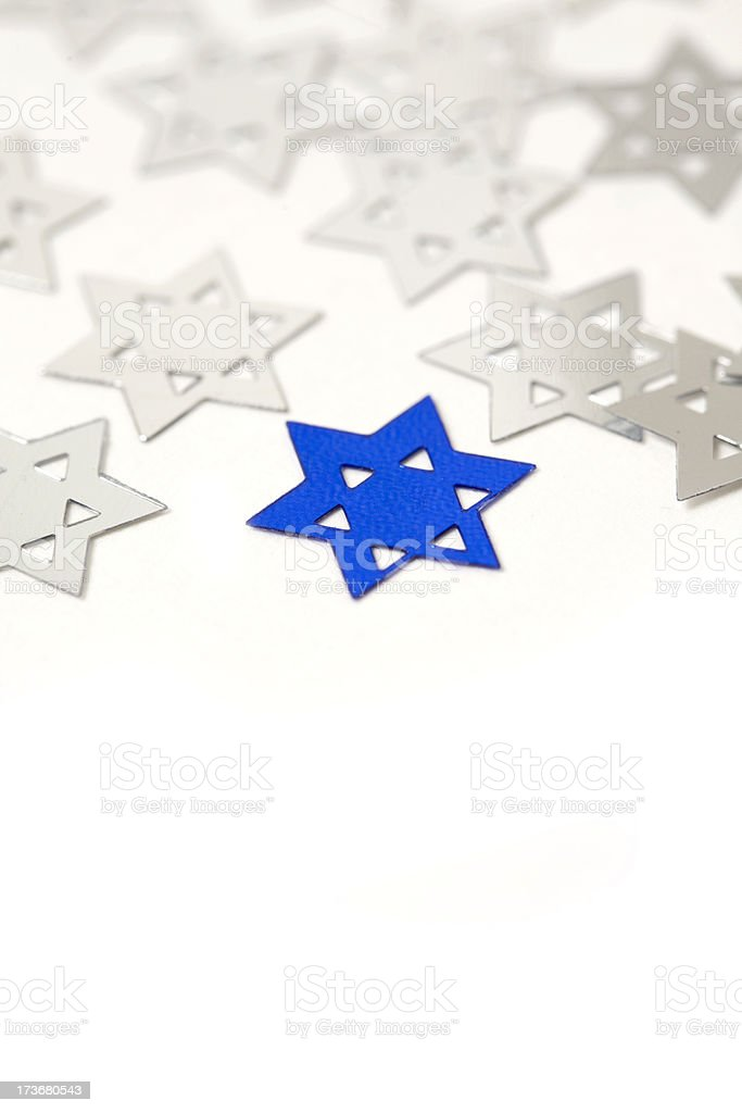 Silver and Blue star of David royalty-free stock photo