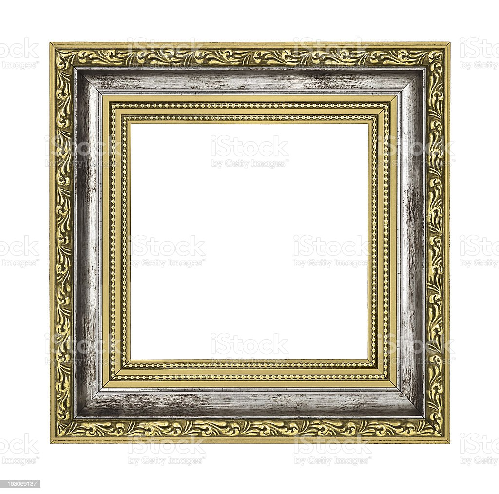silver and gold frame royalty-free stock photo