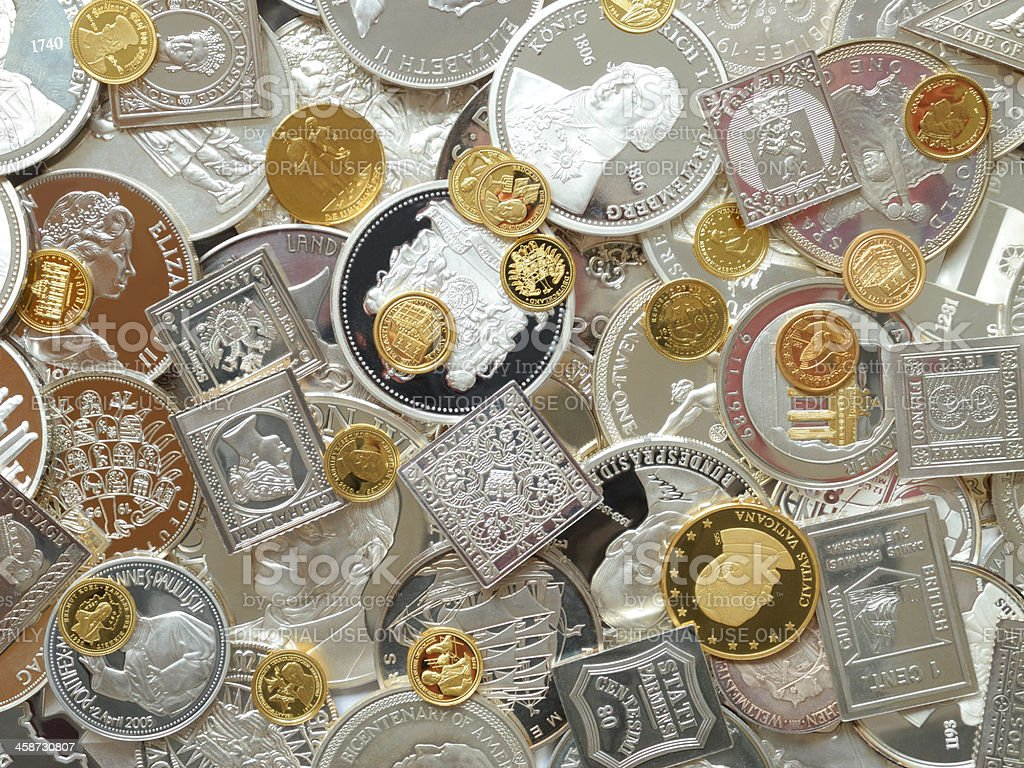 silver and gold stock photo