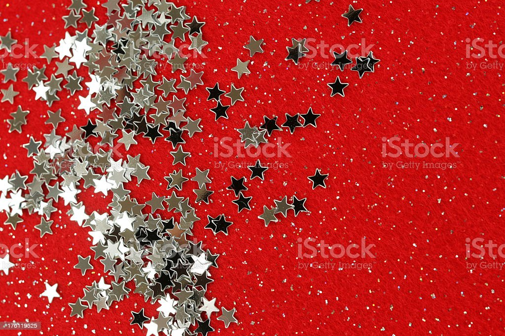 Silver and red royalty-free stock photo