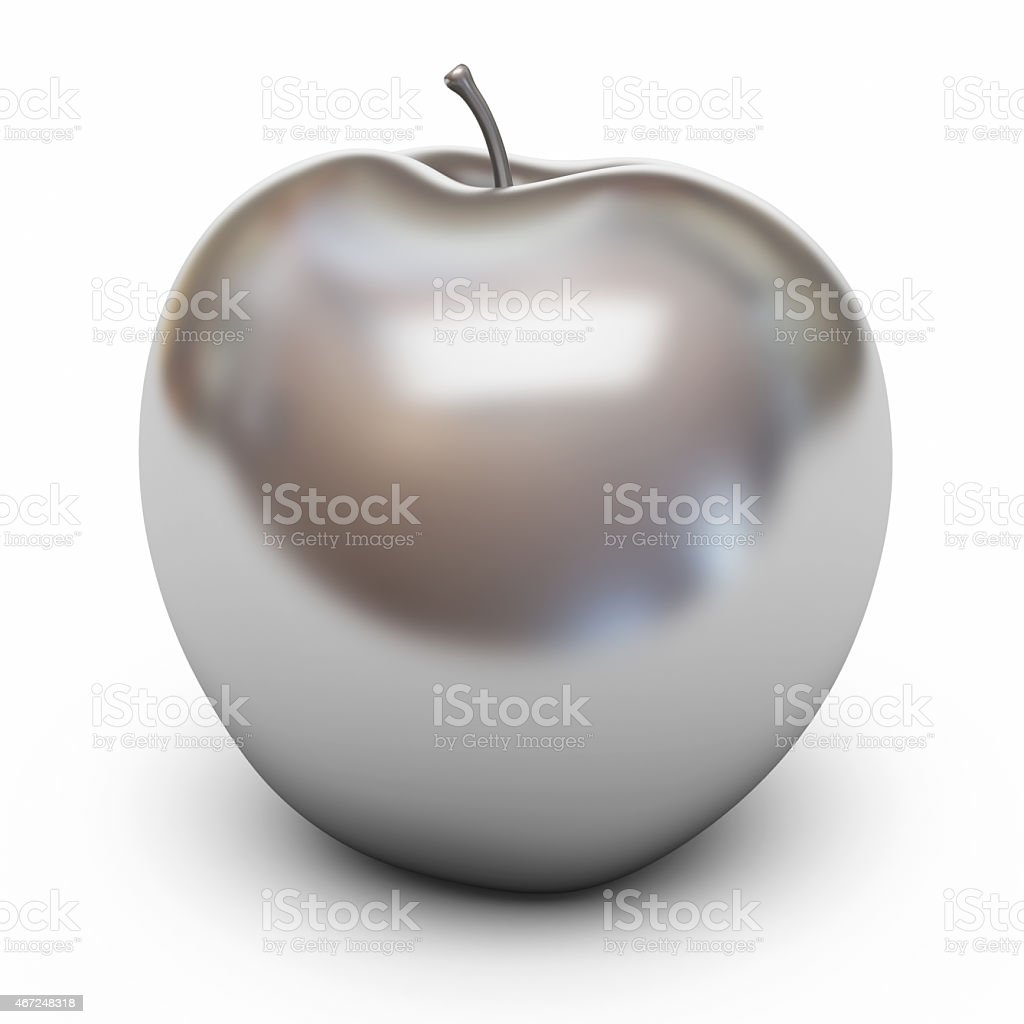 Silver Apple stock photo