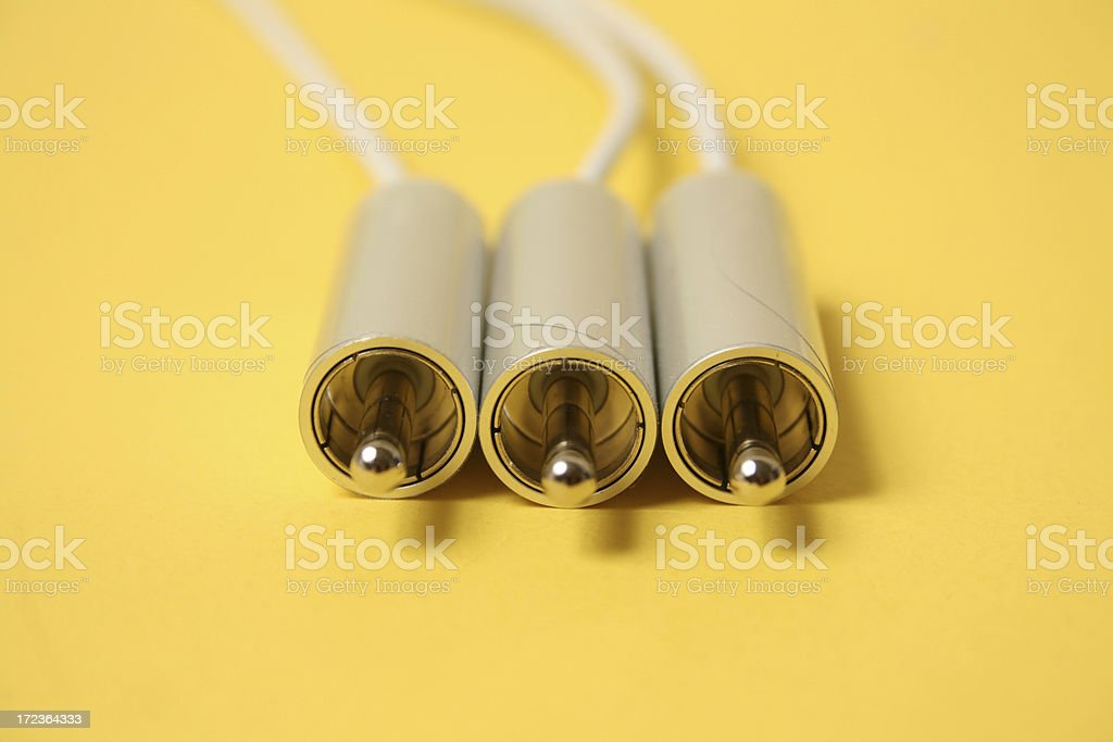 Silver Audio cable royalty-free stock photo