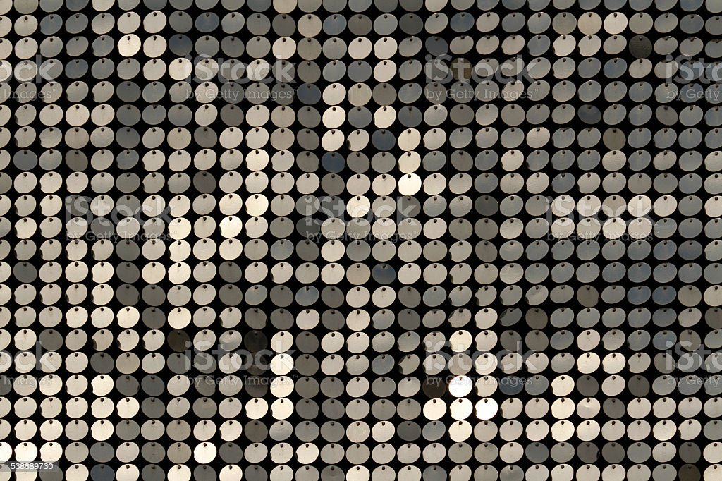 Silver background mosaic with light spots stock photo
