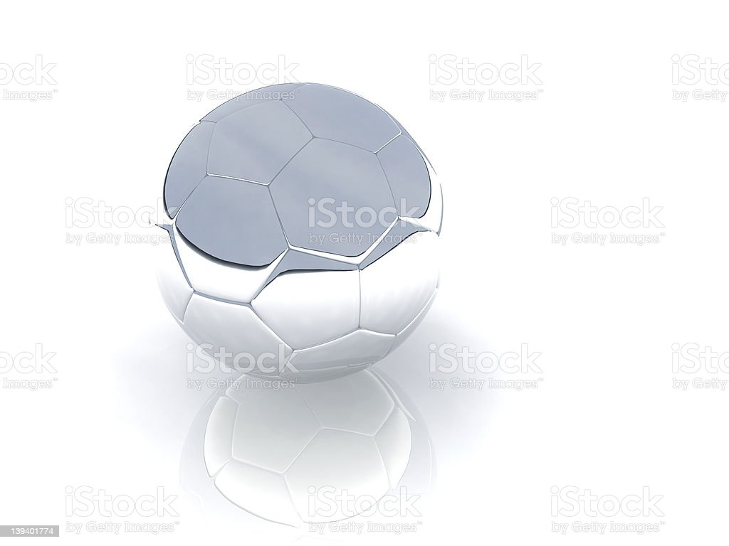 silver ball royalty-free stock photo