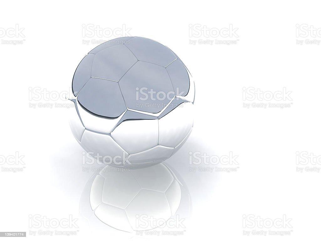 silver ball stock photo