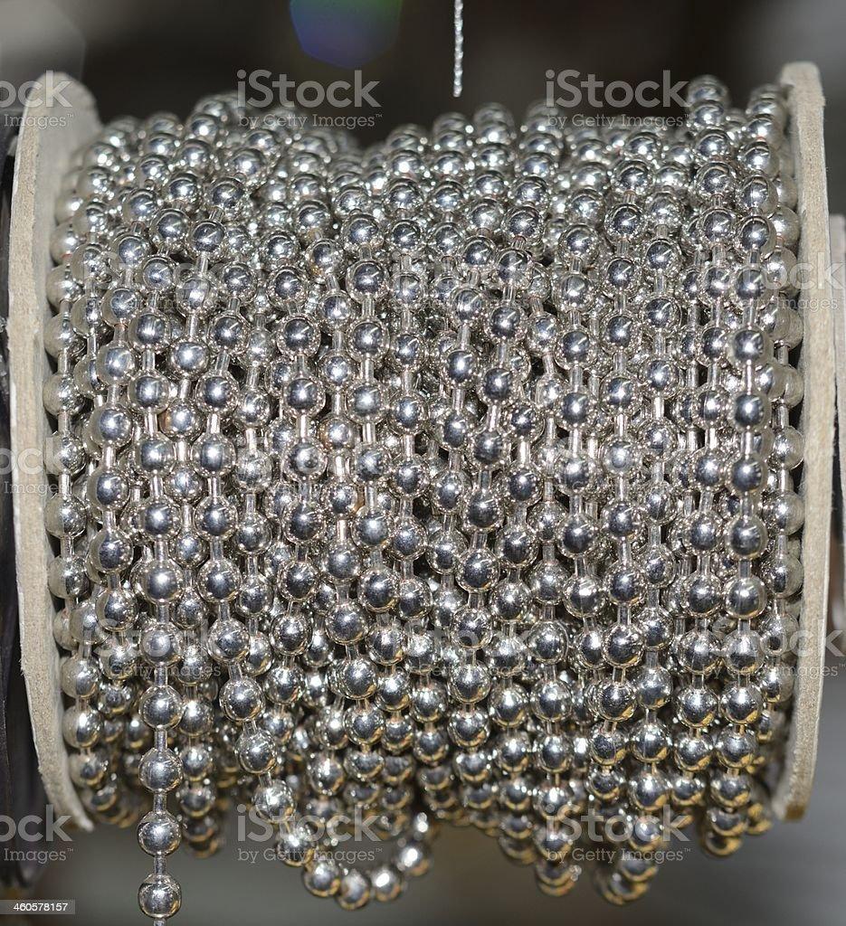 Silver balls decoration stock photo