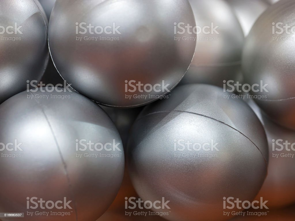 Silver balls made of plastic royalty-free stock photo