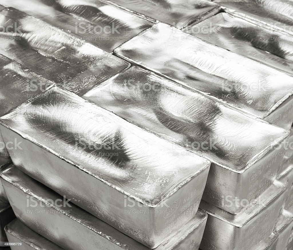 Silver Bars stock photo