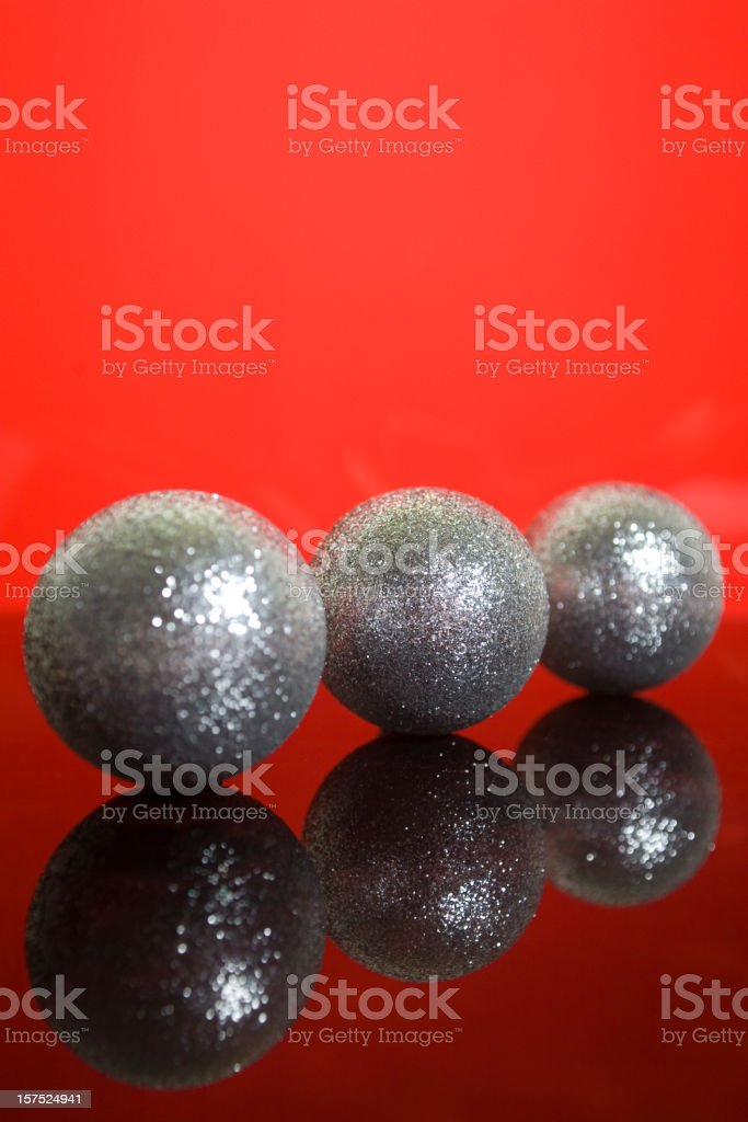 silver baubles royalty-free stock photo
