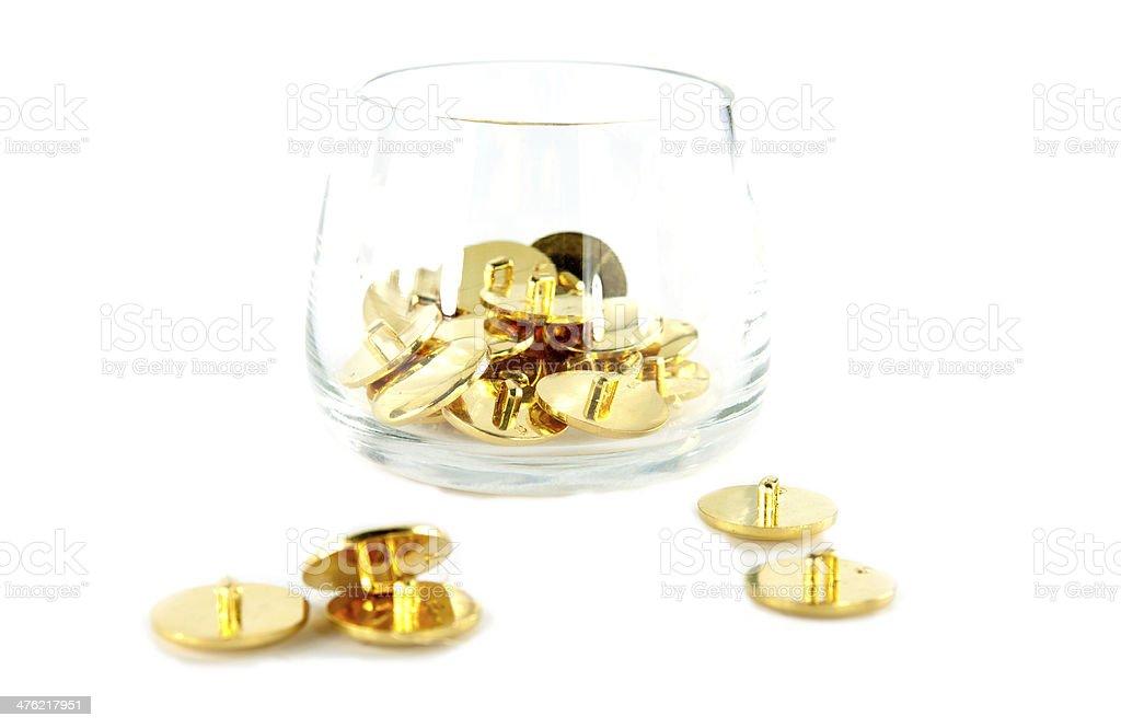 Silver Beads on White royalty-free stock photo