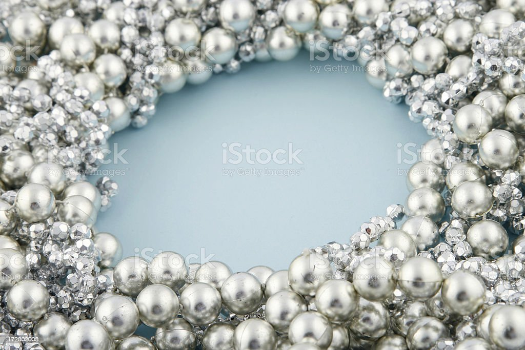 Silver Beads royalty-free stock photo