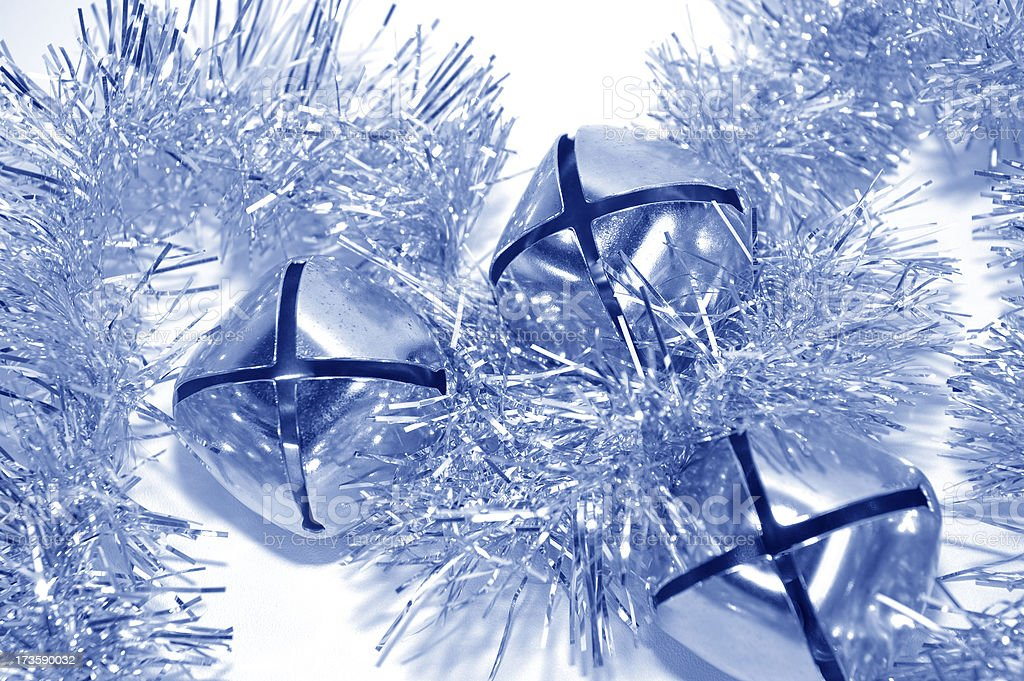 Silver Bells in Frosty Air stock photo