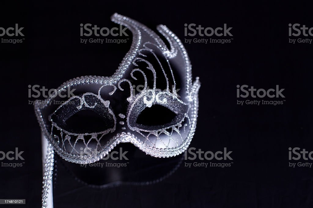 Silver Black Mask stock photo