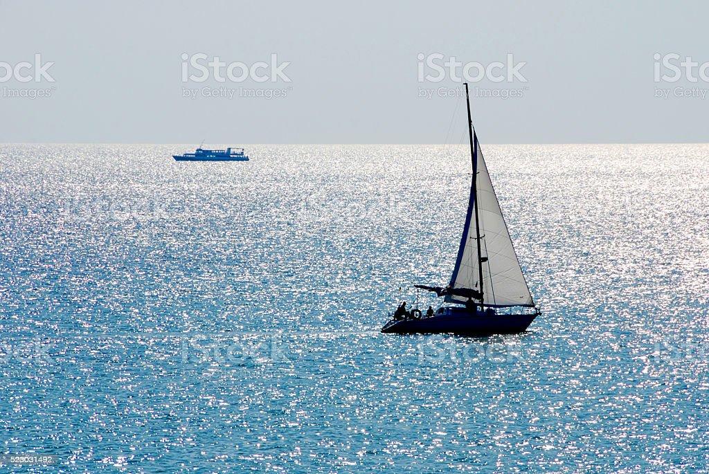 Серебро Черного  моря.Silver Black Sea. stock photo