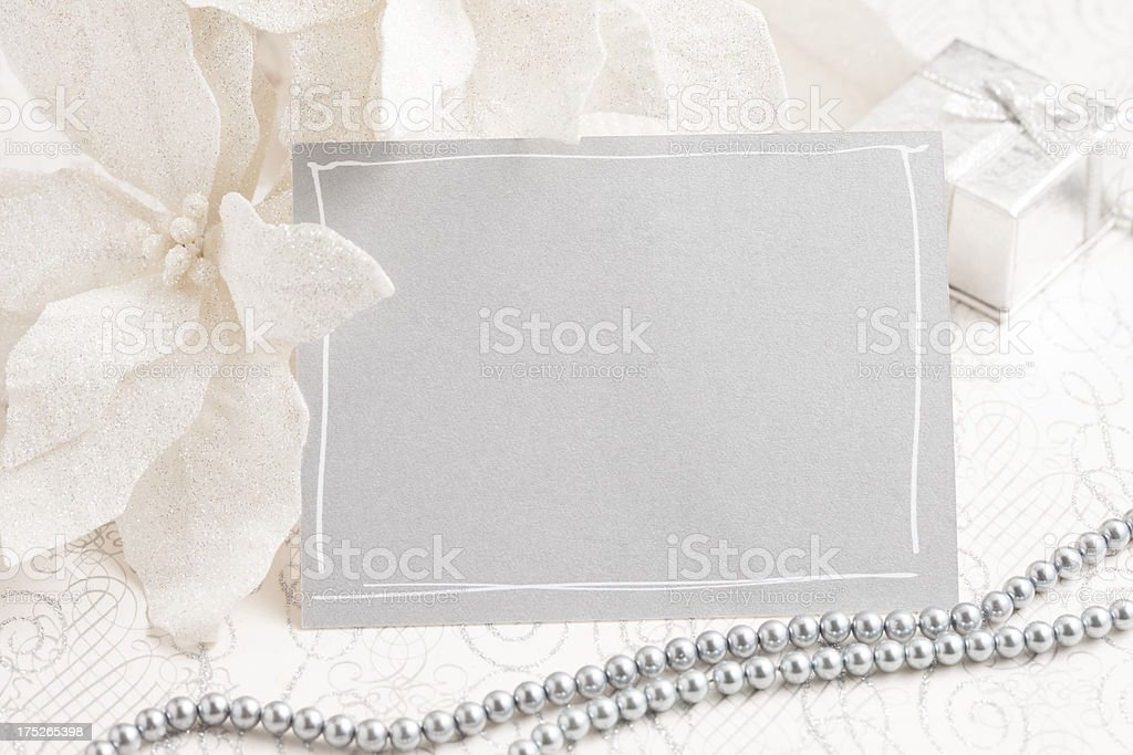 Silver Blank Card royalty-free stock photo