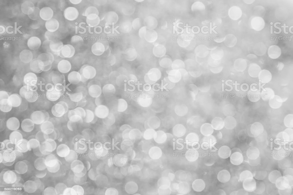 Silver Bokeh stock photo