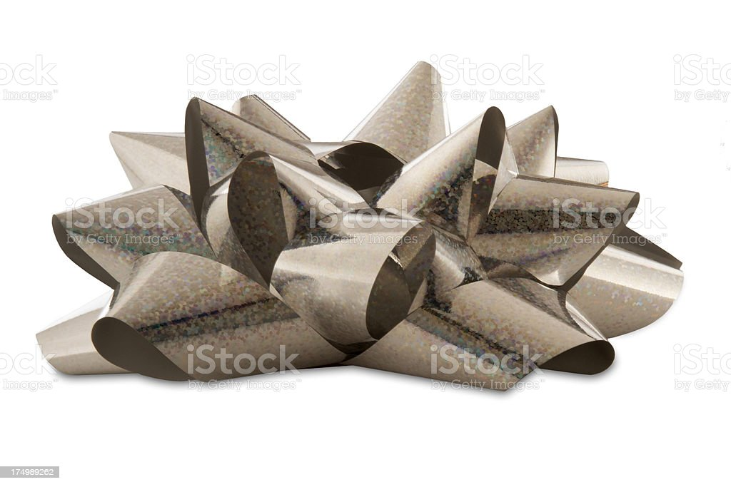 Silver Bow on Top - xxlarge stock photo