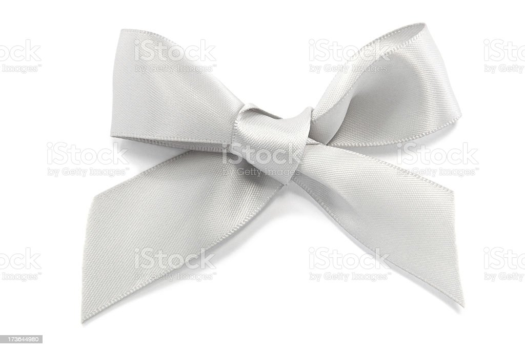 Silver Bow royalty-free stock photo