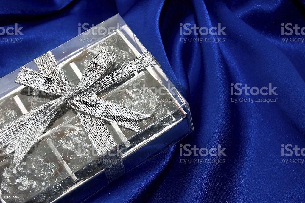 Silver box royalty-free stock photo