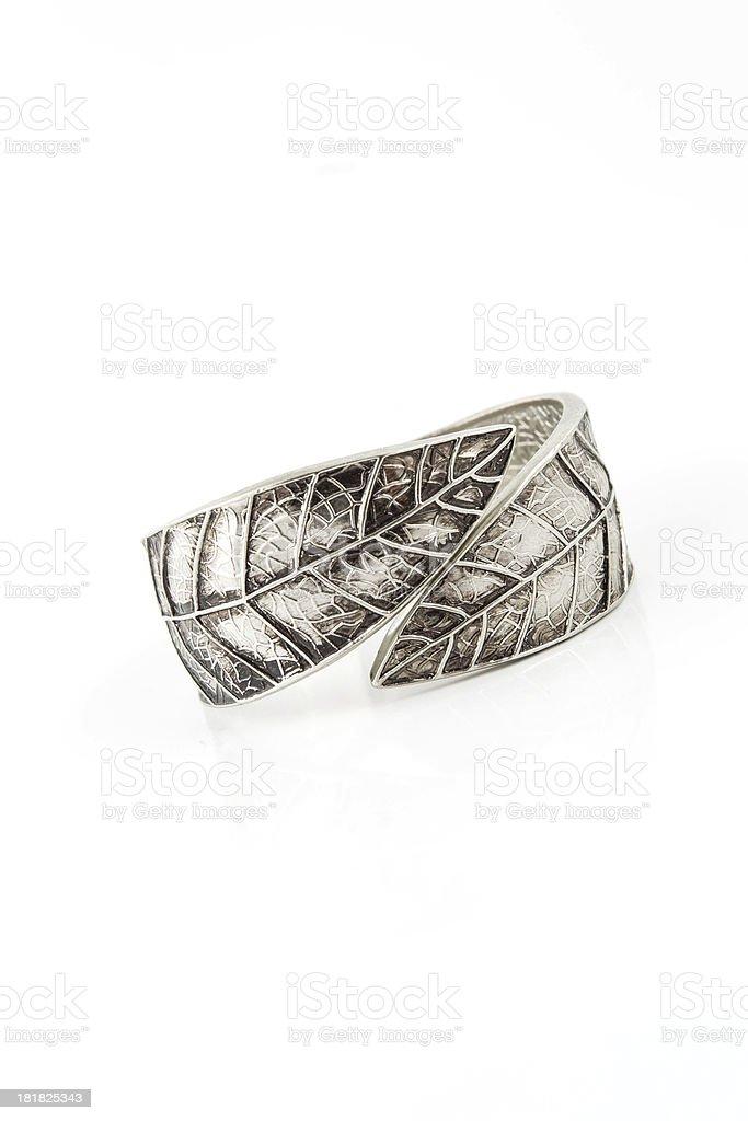 Silver bracelet royalty-free stock photo